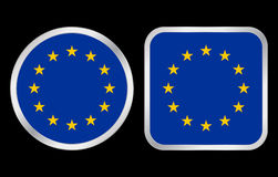 European union flag icon Royalty Free Stock Photos