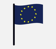 European union flag icon illustrated Stock Photos