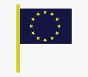European union flag icon illustrated Royalty Free Stock Photography