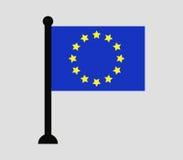 European union flag icon illustrated Royalty Free Stock Photo