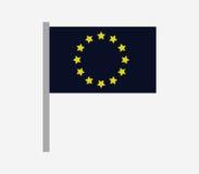 European union flag icon illustrated Royalty Free Stock Photos
