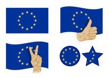 European Union flag icons set. vector illustration Royalty Free Stock Image