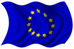 European union flag isolated Royalty Free Stock Image