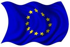 European union flag isolated. 2d illustration of europe union flag over white background vector illustration
