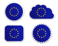 European Union flag labels Royalty Free Stock Photography
