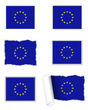 European Union flag set Royalty Free Stock Photos