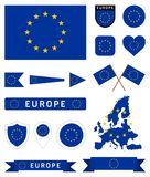 European Union flag set Stock Photos