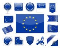 European Union Flag Vector Set Royalty Free Stock Image