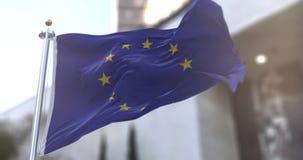 European Union Flag Slow motion seamless loop
