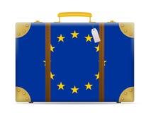 European union flag travel suitcase Stock Images