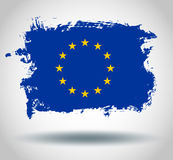 European union flag vector flag Royalty Free Stock Photo