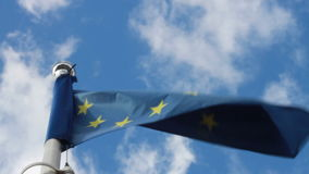 European Union Flag in the Wind stock video