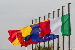 European union flags. Europe member states Royalty Free Stock Photos