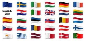 European union flags Royalty Free Stock Image