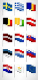 European Union flags collection. Set 2 Stock Photos