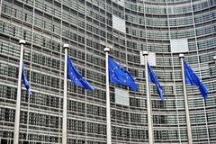 European Union flags Stock Photos