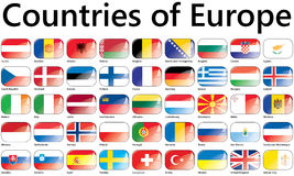 European Union flags Royalty Free Stock Image