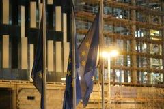 European Union flags fluttering Stock Images