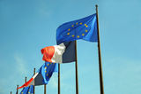 European Union and France flags Royalty Free Stock Image