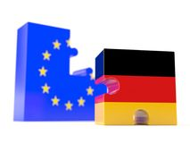 European union with german. Isolated on white background Royalty Free Stock Images
