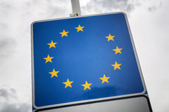 European union without Great Britain star Stock Images