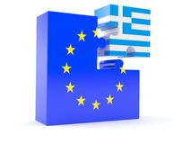 European union with Greece Royalty Free Stock Images