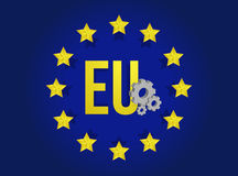 European union industrial flag illustration design Stock Image