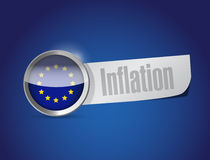 European union inflation illustration design Stock Image