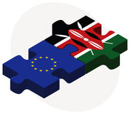 European Union and Kenya Flags in puzzle Royalty Free Stock Image