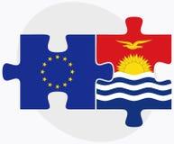European Union and Kiribati Flags in puzzle Stock Photos