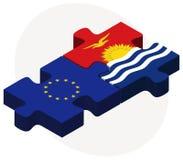 European Union and Kiribati Flags in puzzle Stock Image