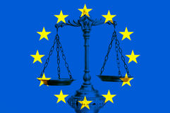 European Union law and justice Royalty Free Stock Photo