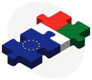 European Union and Madagascar Flags in puzzle Royalty Free Stock Image