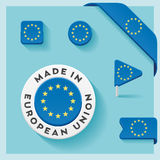 European Union Made Symbol Collection Stock Image