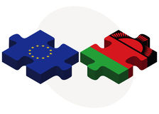 European Union and Malawi Flags in puzzle Stock Photography