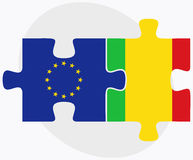European Union and Mali Flags in puzzle Royalty Free Stock Photography