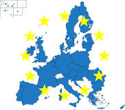 European Union map Stock Images