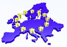 European union map Royalty Free Stock Photo