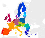 European Union Map. Vector Image Royalty Free Stock Photo