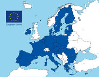 European union map after the brexit vote Stock Image