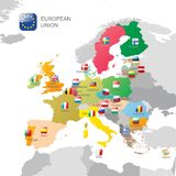 The European Union map Royalty Free Stock Images