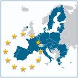 European Union map Royalty Free Stock Photo