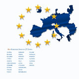 European Union map. Royalty Free Stock Images