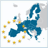 European Union map Royalty Free Stock Image