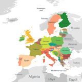 European Union map Stock Photo