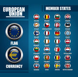 European Union Member States Badges Royalty Free Stock Images