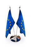 European Union miniature flags Royalty Free Stock Photo
