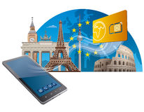 European union mobile service Royalty Free Stock Photography