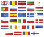 European union modern style flags Royalty Free Stock Photo