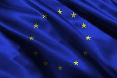 European Union national flag 3D illustration symbol Royalty Free Stock Images
